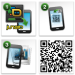 Install Junaio and scan the QR code...